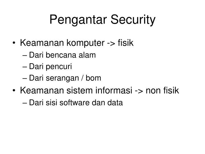 Pengantar Security