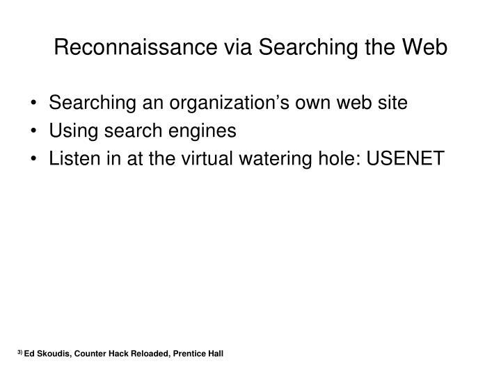 Reconnaissance via Searching the Web