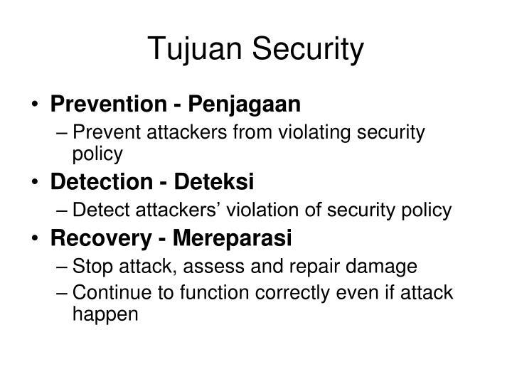 Tujuan Security