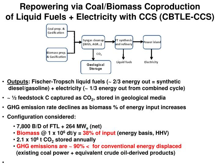 Repowering via Coal/Biomass Coproduction