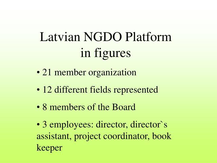 Latvian NGDO Platform in figures