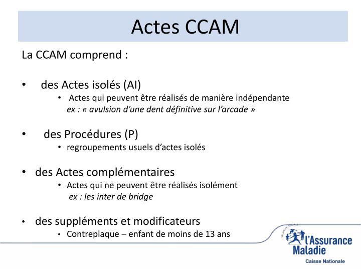 Actes CCAM