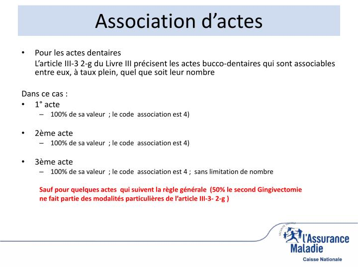Association d'actes
