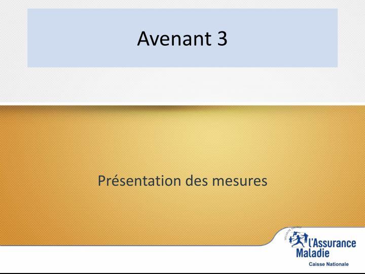 Avenant 3