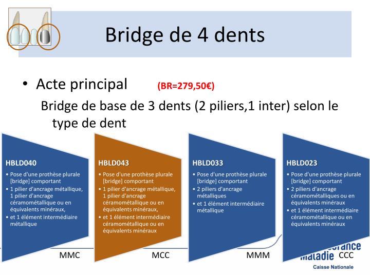 Bridge de 4 dents