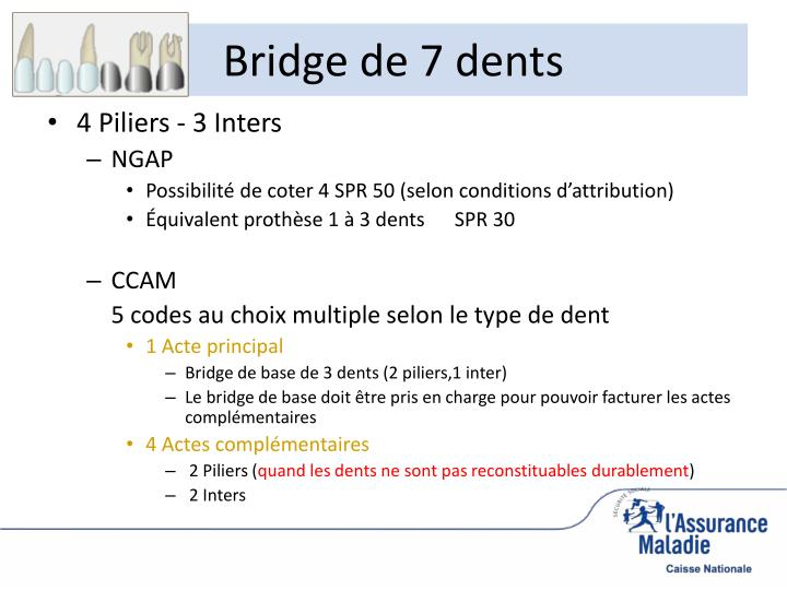 Bridge de 7 dents