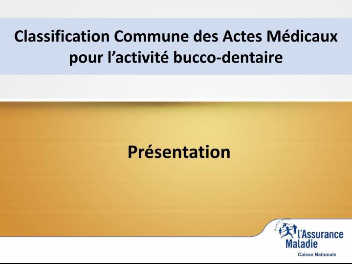 Classification Commune des