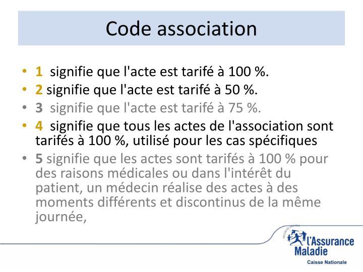 Code association