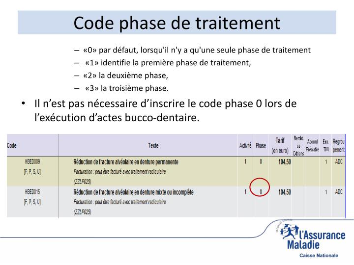 Code phase de traitement