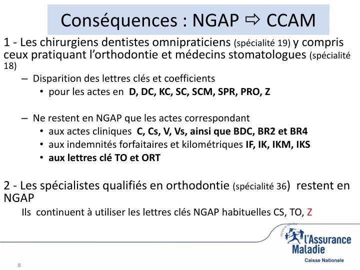 Conséquences : NGAP