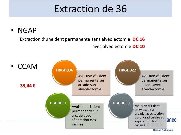 Extraction de 36