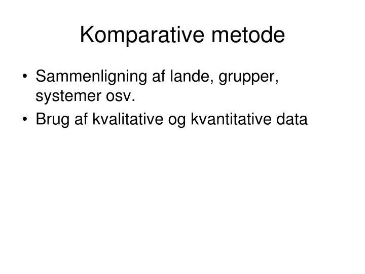 Komparative metode