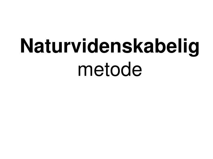 Naturvidenskabelig