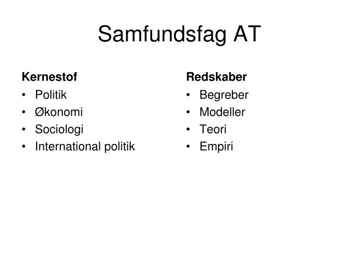Samfundsfag AT