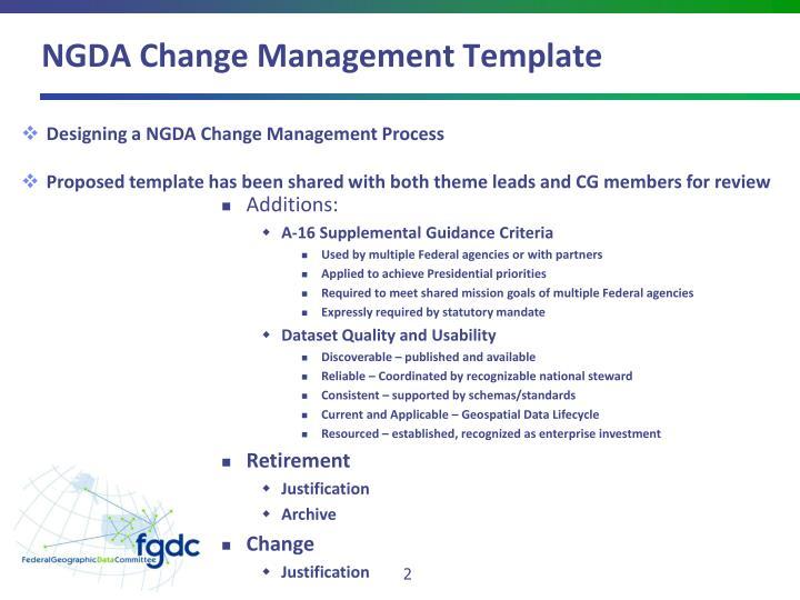 NGDA Change Management Template