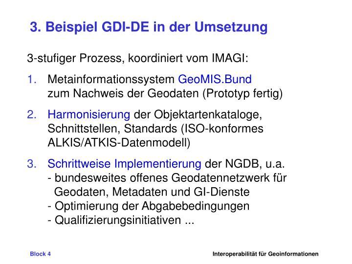 3. Beispiel GDI-DE in der Umsetzung
