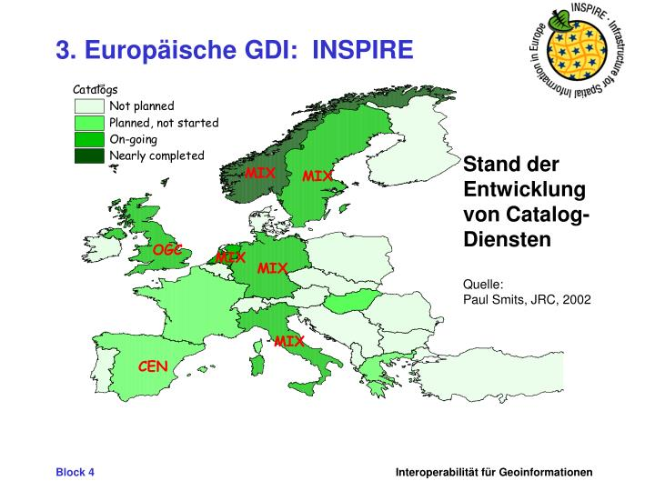 3. Europäische GDI:  INSPIRE