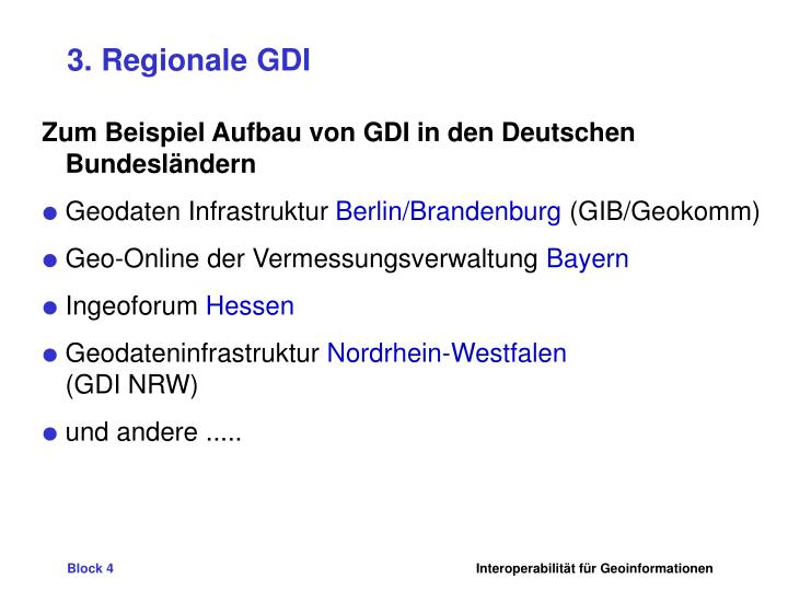 3. Regionale GDI