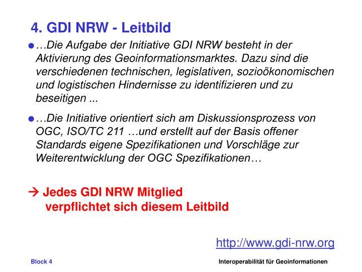 4. GDI NRW - Leitbild