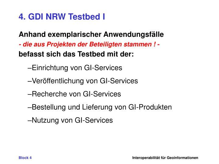 4. GDI NRW Testbed I
