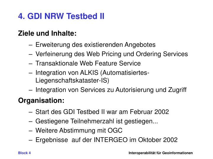 4. GDI NRW Testbed II