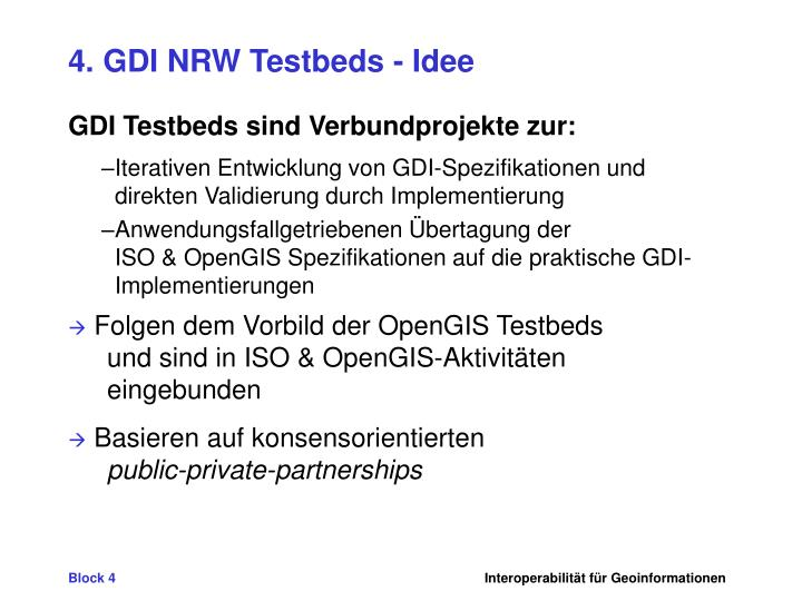 4. GDI NRW Testbeds - Idee