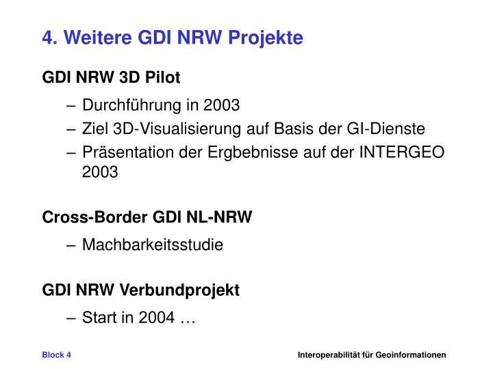 4. Weitere GDI NRW Projekte