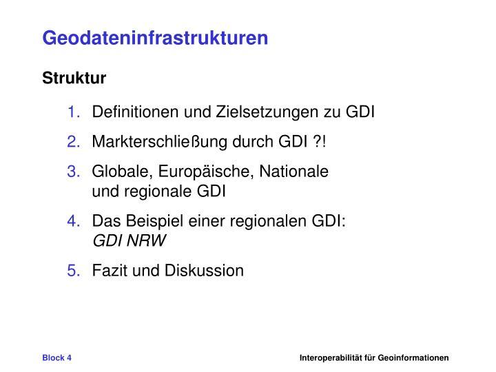 Geodateninfrastrukturen