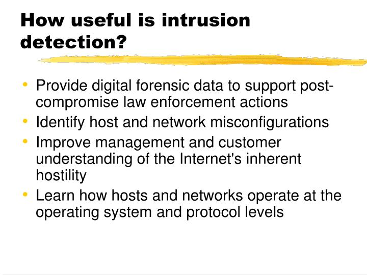 How useful is intrusion detection?