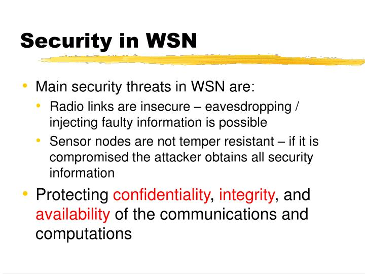 Security in WSN
