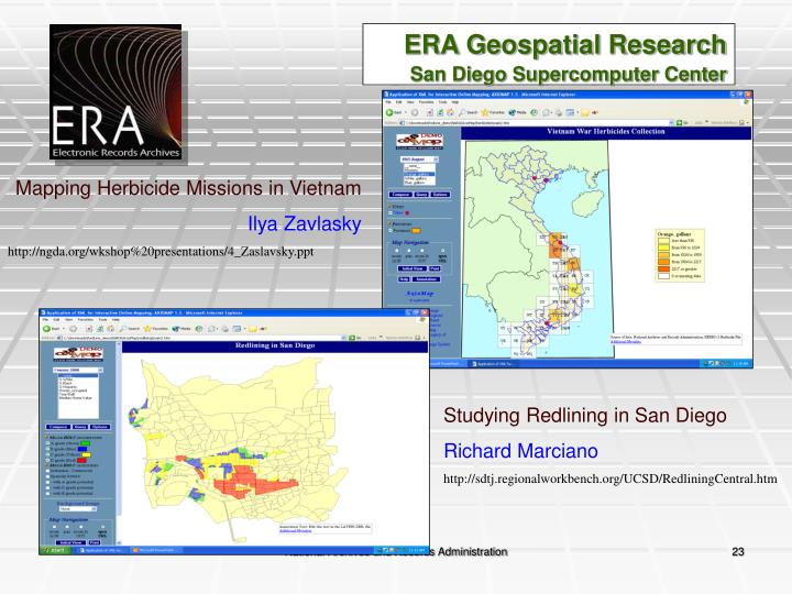 ERA Geospatial Research
