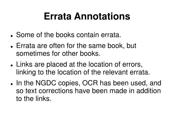 Errata Annotations
