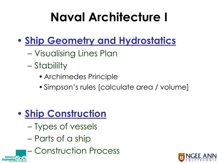 Naval Architecture I