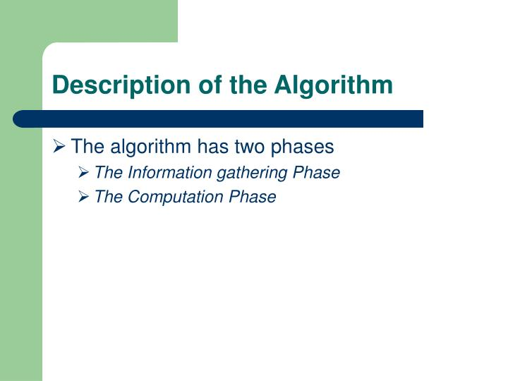 Description of the Algorithm