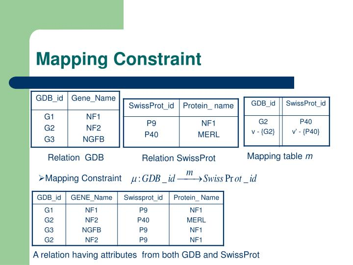 Mapping Constraint