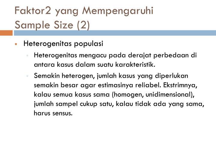 Faktor2 yang Mempengaruhi