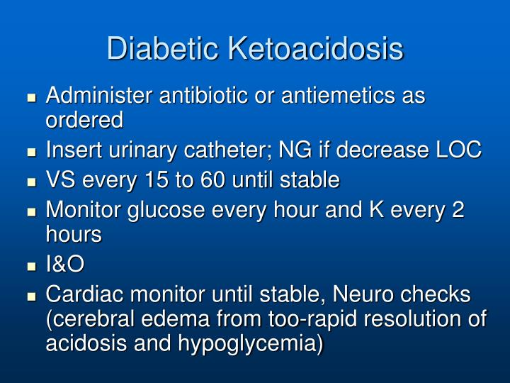 Diabetic Ketoacidosis