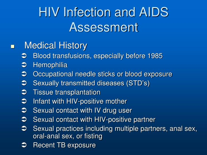 HIV Infection and AIDS Assessment