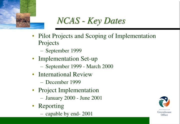 Pilot Projects and Scoping of Implementation Projects