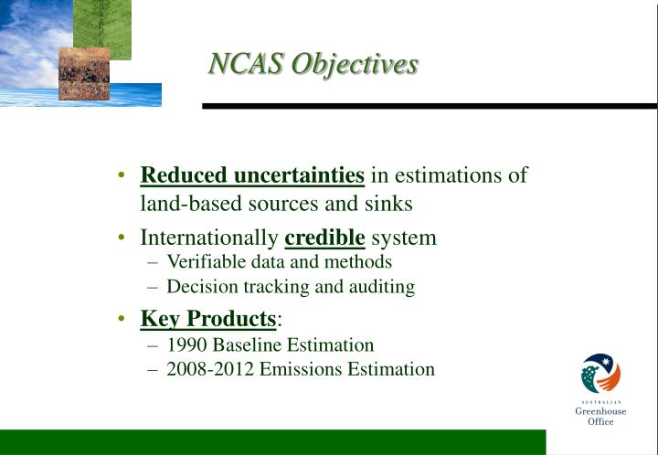 Ncas objectives
