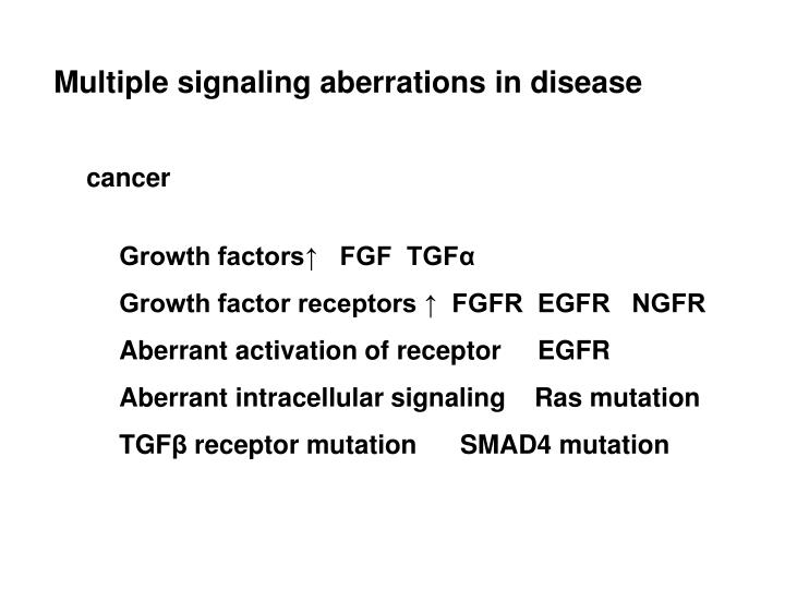 Multiple signaling aberrations in disease