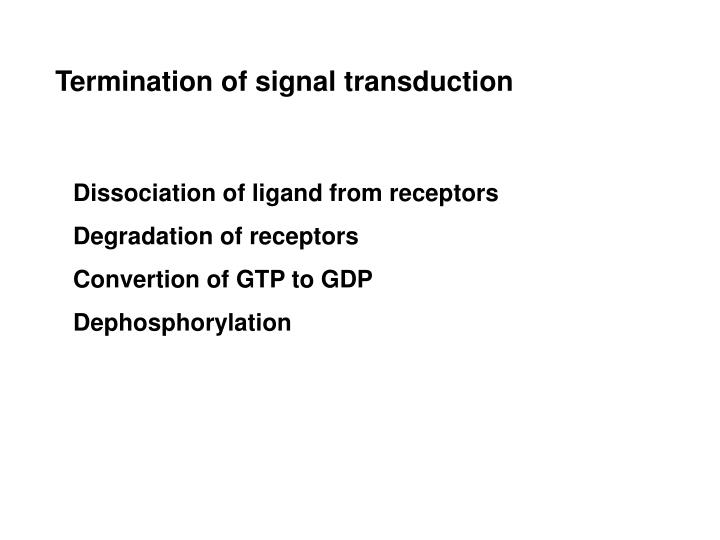 Termination of signal transduction
