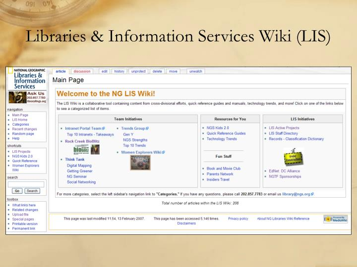 Libraries & Information Services Wiki (LIS)