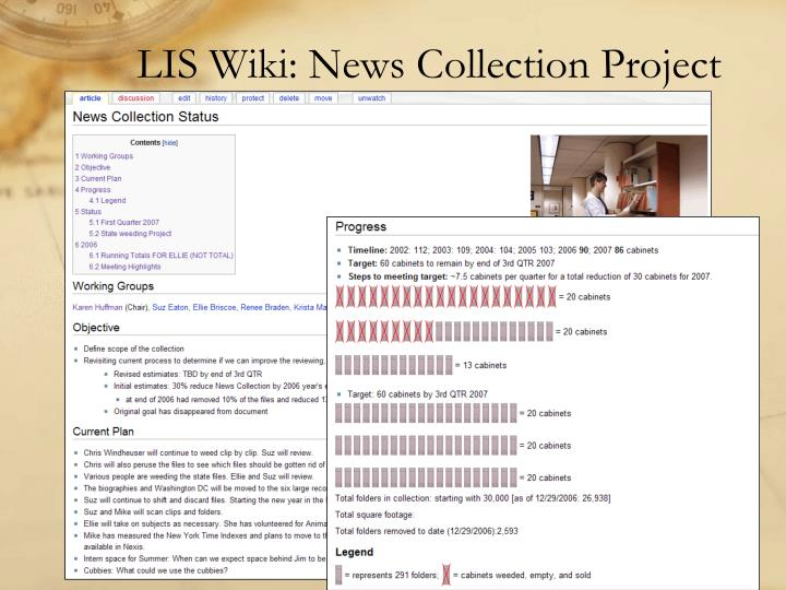 LIS Wiki: News Collection Project