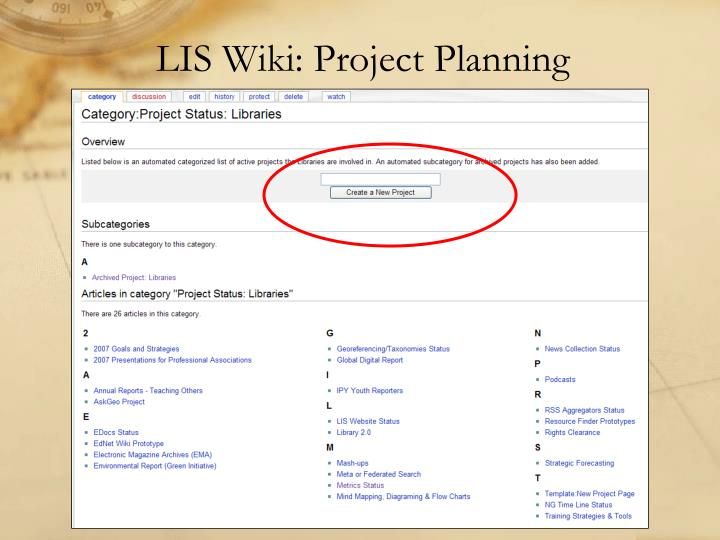 LIS Wiki: Project Planning