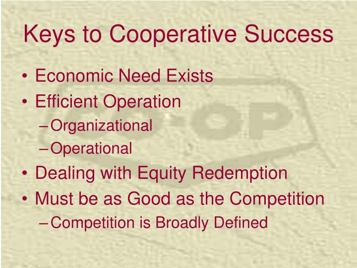 Keys to Cooperative Success