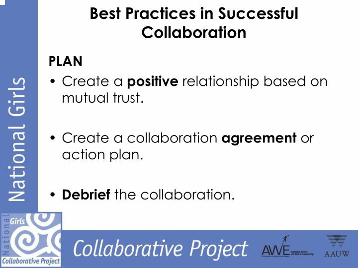 Best Practices in Successful Collaboration