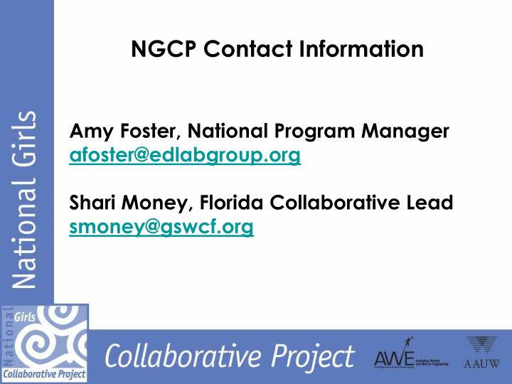 NGCP Contact Information