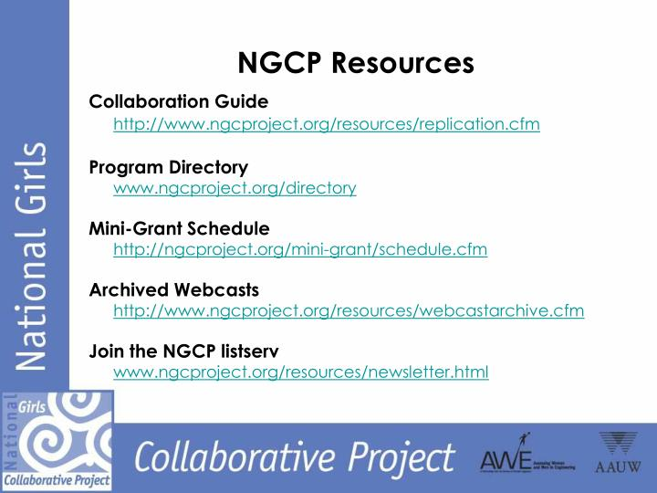 NGCP Resources