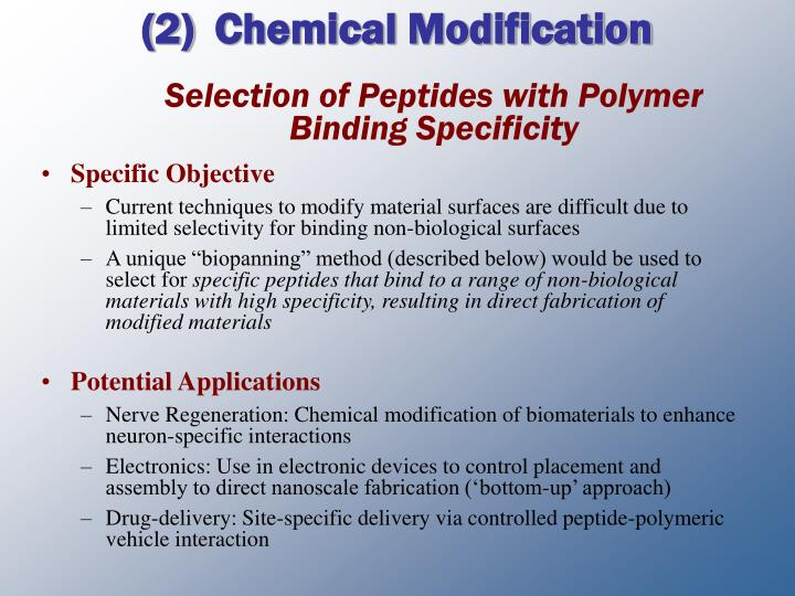 Chemical Modification